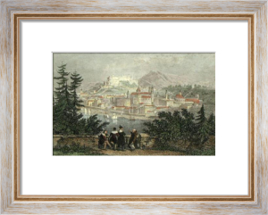 Salzburg (Restrike Etching) by Thomas Allom