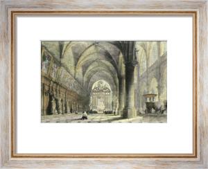 Antwerp Church of St Paul's (Restrike Etching) by Thomas Allom