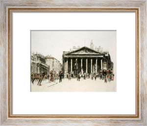 Royal Exchange, London (Restrike Etching) by Anonymous