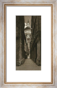 St Pauls, The Alley Way (Restrike Etching) by Anonymous