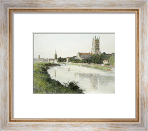 Worcester Cathedral (Restrike Etching) by Anonymous