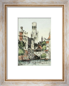 Bruges Cathedral (Restrike Etching) by Anonymous