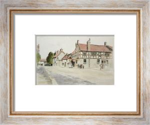 Caerleon, Ye Old Bull Inn (Restrike Etching) by Anonymous