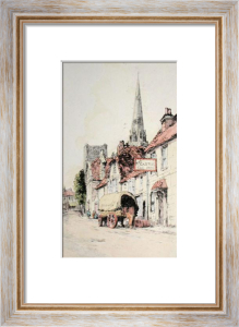 South Street, Chichester (Restrike Etching) by Anonymous