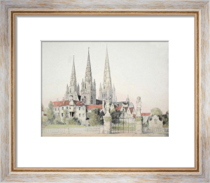 Lichfield Cathedral (Restrike Etching) by Anonymous