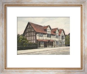 Shakespeares House (Restrike Etching) by Anonymous