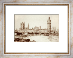 London View-Tower of Westminster (Restrike Etching) by Dorothy Sweet