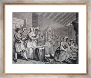 Harlots Progress, Bridewell (Restrike Etching) by William Hogarth