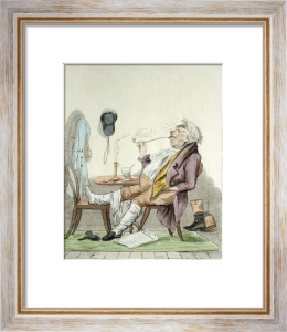 Enjoying a Pipe (Restrike Etching) by Anonymous