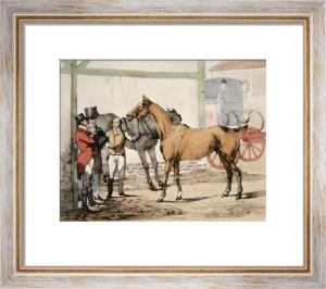 Post Horse (Restrike Etching) by Henry Alken