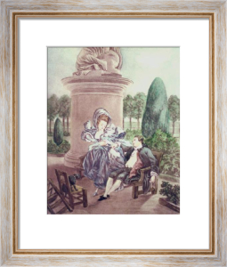 French Scenes - Plate X (Restrike Etching) by Anonymous