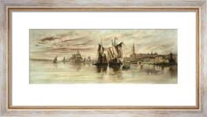 Venice Canal View (Restrike Etching) by Anonymous