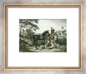 Harehunting, Plate 1V (Restrike Etching) by Samuel Howitt