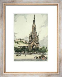 Edinburgh, Scotland (Restrike Etching) by Anonymous