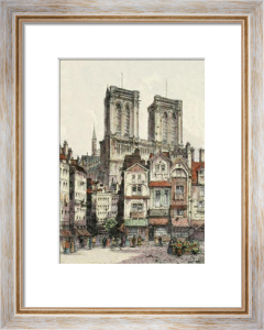 Paris, Notra Dame Cathedral (Restrike Etching) by Anonymous