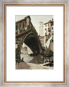 Rialto Bridge, Venice (Restrike Etching) by Anonymous