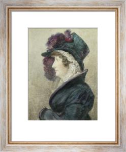 Her Majesty Caroline (Restrike Etching) by Heinrich Wageman