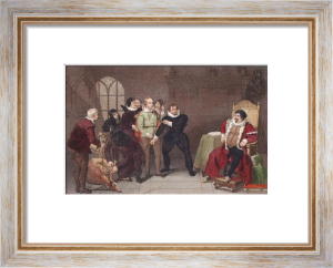 Shakespeare & Sir Thomas Lucy (Restrike Etching) by Anonymous