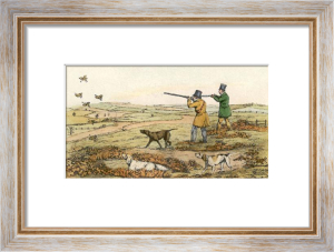 Partridge Shooting (Restrike Etching) by Henry Alken