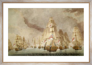 Battle of Trafalgar - Van Div. (Restrike Etching) by Robert Dodd