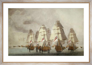 Battle of Trafalgar - Rear Div. (Restrike Etching) by Robert Dodd