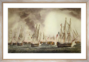 Battle of Trafalgar in the Van (Restrike Etching) by Robert Dodd