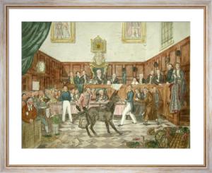 Trial of Bill Burn (Restrike Etching) by P. Mathews