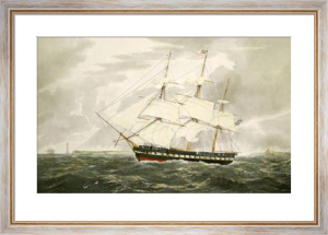 HMS Winchester (Restrike Etching) by W.J. Huggins