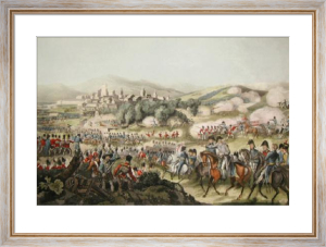 Battle of Vittoria (Restrike Etching) by William Heath