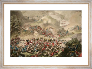Battle of Pyrenees (Restrike Etching) by William Heath