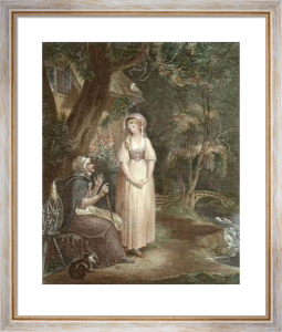 Lavinia and her mother (Restrike Etching) by William Hamilton