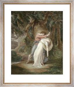 Celadon and Amelia (Restrike Etching) by William Hamilton