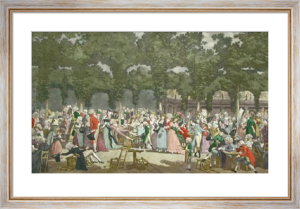 Garden Party (Restrike Etching) by Anonymous