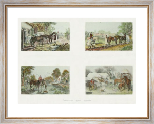 Herrings Farm Scenes (Restrike Etching) by John Frederick Herring