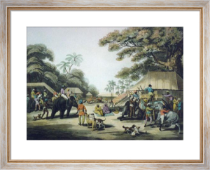 Hunters Going Out in the Morn (Restrike Etching) by Samuel Howitt