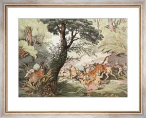 Tiger Seizing a Bullock (Restrike Etching) by Samuel Howitt