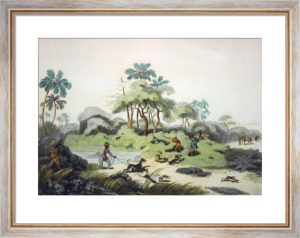 Shooting at the Edge of Jungle (Restrike Etching) by Samuel Howitt