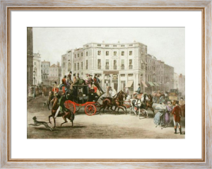 Brighton Coach from Piccadilly (Restrike Etching) by E.F. Lambert