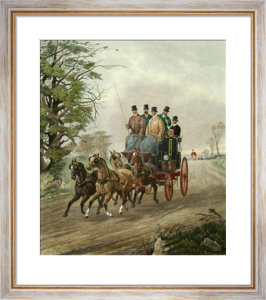 Four in hand (Restrike Etching) by Henry Alken