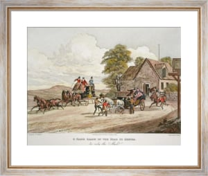 False Alarm on Road to Gretna (Restrike Etching) by Charles Newhouse