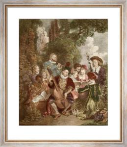 Le Concert Champetre (Restrike Etching) by Jean Antoine Watteau
