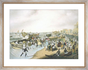 Madras Landing (Restrike Etching) by J B East