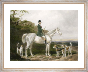 Will Long on Bertha (Restrike Etching) by William Barraud