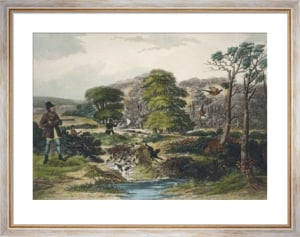 October, Pheasant Shooting (Restrike Etching) by Francis Calcraft Turner