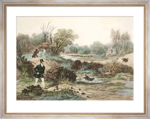 November, Woodcock Shooting (Restrike Etching) by Francis Calcraft Turner
