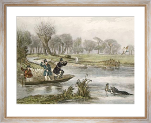 December, Duck Shooting (Restrike Etching) by Francis Calcraft Turner
