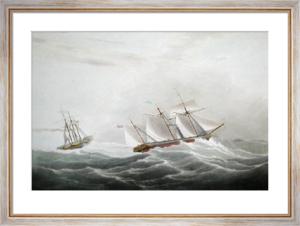 The Archimedes Steamer (Restrike Etching) by W.J. Huggins