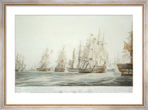 Capture of Miquelite Squadron (Restrike Etching) by W.J. Huggins