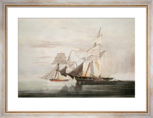 Capture of Schooner 'Bolodora' (Restrike Etching) by W.J. Huggins