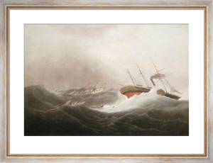 Loss of the Isis Mail Steamer (Restrike Etching) by W.J. Huggins